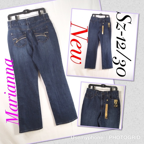 Nine West Denim - New Nine West Marianna tummy missy jeans Sz 12/30
